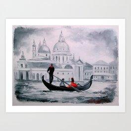 the romance of Venice Art Print