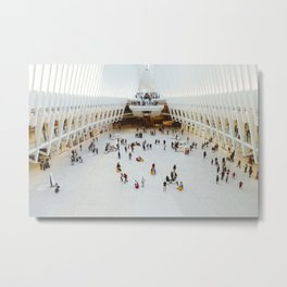 People in Oculus,  New York Metal Print