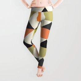 Geometric Pattern #104 (orange pink green Leggings