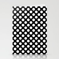 polka dots Stationery Cards featuring Polka Dots by Kings in Plaid