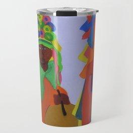 Festa do Rosario, Colorful Art, Brazil, Parade, Headdress and Drums Travel Mug