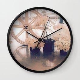 Coco No. 5 Floral Exhibit Wall Clock
