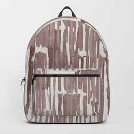 Simply Bamboo Brushstroke Red Earth on Lunar Gray Backpack