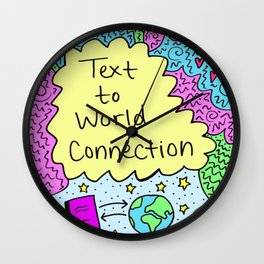 Text to World Connection Wall Clock