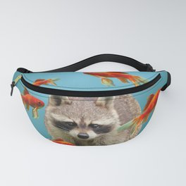 Goldfish Racoon Fanny Pack