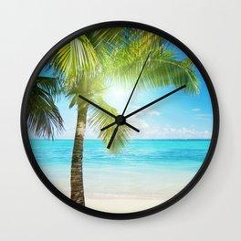 Coconut Beach Wall Clock