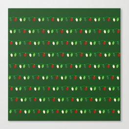 Traditional Christmas Tree Light Strings Canvas Print