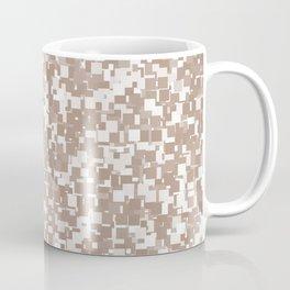 Warm Taupe Pixels Coffee Mug