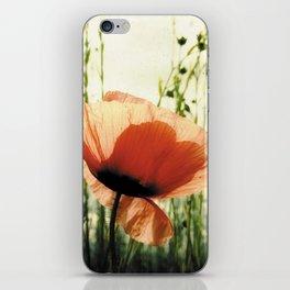 Eclosion de Coquelicot iPhone Skin