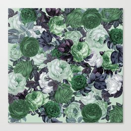 rose bushes green Canvas Print