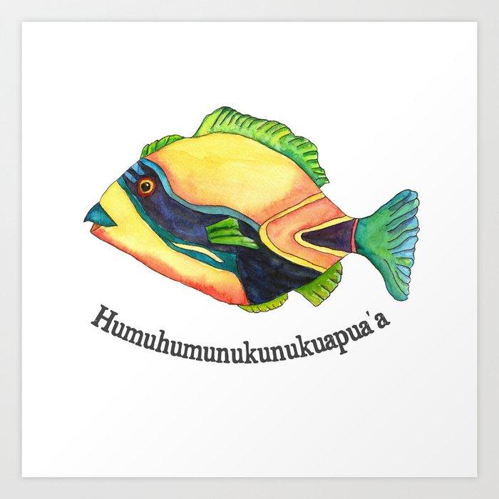 H is for Humuhumunukunukuapua'a Art Print