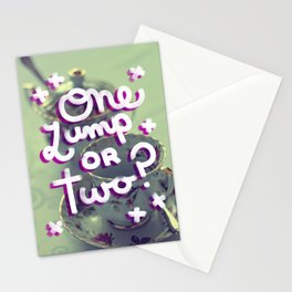 One Lump or Two? Stationery Cards
