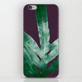 Green Fall Fern Purple iPhone Skin