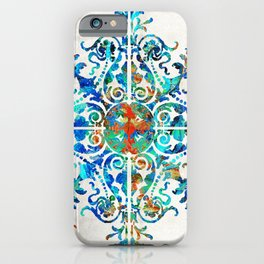 Colorful Pattern Art - Color Fusion Design 6 By Sharon Cummings iPhone Case