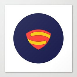 Geometric Superman Canvas Print