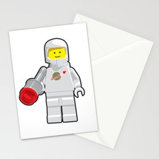 Vintage Lego White Spaceman Minifig Stationery Cards