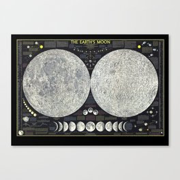 The Earth's Moon Map Canvas Print