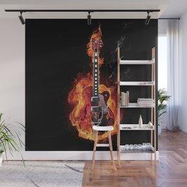 Guitar Burning Wall Mural