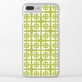 Mid Century Modern Pattern 271 Chartreuse Clear iPhone Case