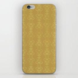 Carnivorous Damask (Gold) iPhone Skin
