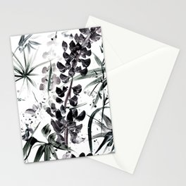 Lupinus #2 (white) Stationery Cards