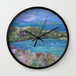 Cruz Bay, St. John Wall Clock