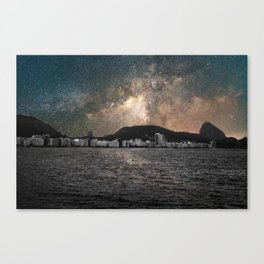 Shiny Sky Over Copacabana Canvas Print
