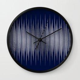 Linear Blue & Silver Wall Clock