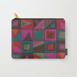 squares of colors and shreds Carry-All Pouch