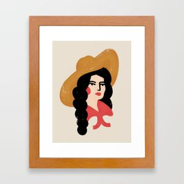 Abstract Cowgirl Framed Art Print