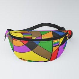 LGBTQ+ POC Pride Rainbow Abstract Geometric Fanny Pack
