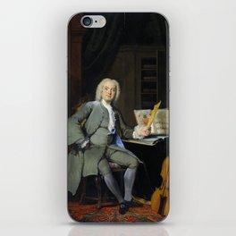 Portrait of a family member Van der Mersch - Cornelis Troost  1736 iPhone Skin