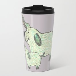 Two of a kind - cute parent dog with child Travel Mug