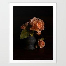 Roses & Buds Art Print