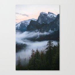 Three Brothers at Sunrise | Yosemite National Park, CA Canvas Print