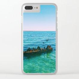 Sunken ship Clear iPhone Case
