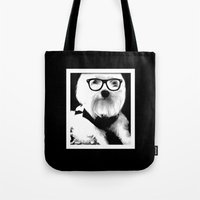ewok Tote Bags featuring Ewok. A dogs Life  by Kristy Patterson Design