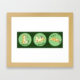 Drink, Drank, Dunk - Corgi Framed Art Print
