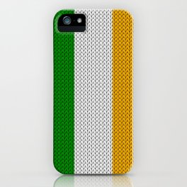 Flag of Ireland - knitted iPhone Case