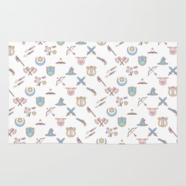 Cute Dungeons and Dragons classes Rug