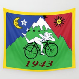 Bicycle Day 1943 Albert Hofmann LSD Wall Tapestry