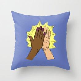 high five!!!! Throw Pillow