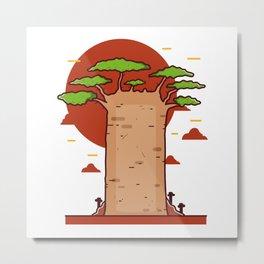 Baobab Metal Print