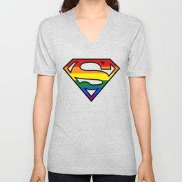SuperGay rainbow! Unisex V-Neck