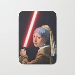 The Girl with the Lightsaber Bath Mat