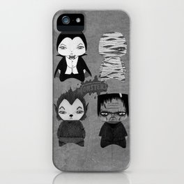 A Boy - Universal Monsters Black & White édition iPhone Case