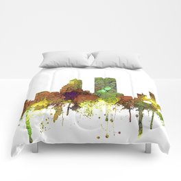 Jacksonville, Florida Skyline SG - Safari Buff Comforters