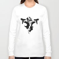 gangster Long Sleeve T-shirts featuring Monopoly Gangster by Grime Lab