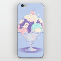 snorlax iPhone & iPod Skins featuring Sweet Tooth Sundae by Miski