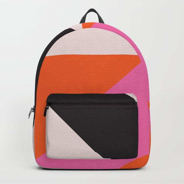 Split X Black & Pink Rucksack